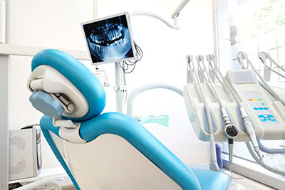 a dental chair like the ones at Elite Dental of Natick