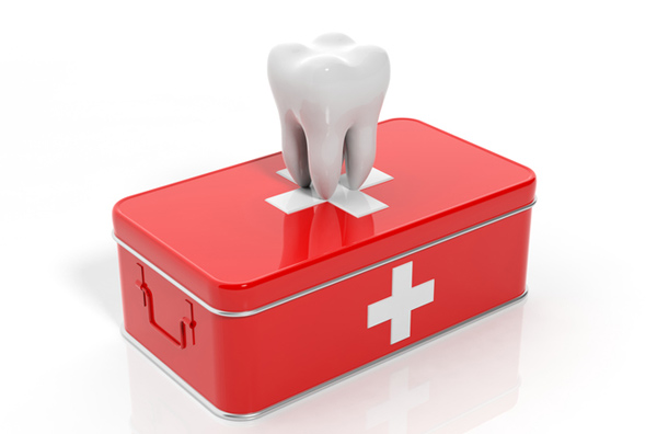 Rendering of tooth on emergency kit at Elite Dental of Natick in Natick, MA